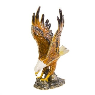 Majestic Eagle Enamel Trinket Box