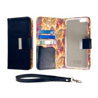 Klix Klutch Multicolor Microfiber Wallet Credit Card Phone Case for Apple iPhone 6 Plus/6s Plus