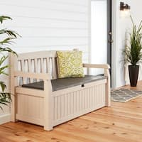Eden Cream Plastic All-weather Garden Storage Bench