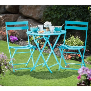 Corvus Eta Blue Steel 3-piece Bistro Set