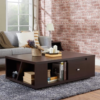 Furniture of America Farlah Contemporary Walnut Storage Coffee Table