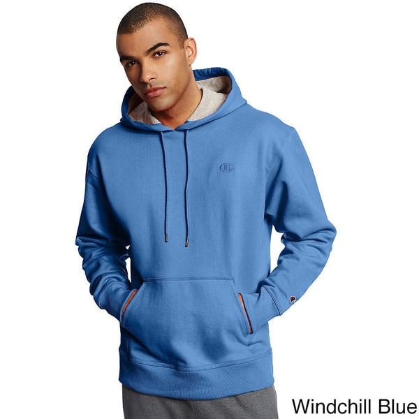 Champion Mens Poly Fleece Po Hood L//C C on Sleeve Hoody