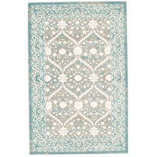 Bardot Blue and Gray Area Rug (8' x 10')