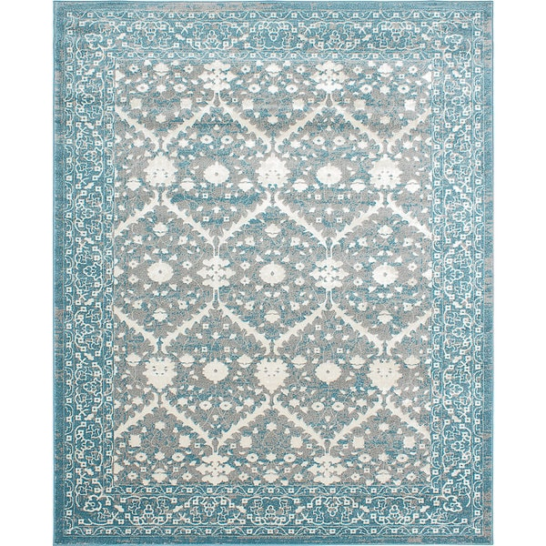 Shop Bardot Blue And Gray Area Rug 8 X 10 On Sale