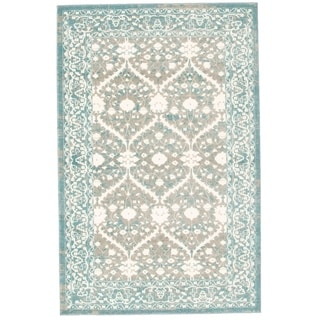 Bardot Blue and Gray Area Rug (5'3 x 8'0)