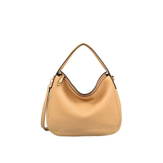 London Tan Faux Leather Hobo Handbag