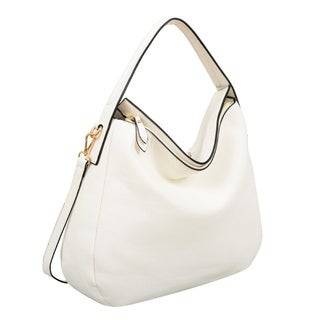 London White Faux-leather Hobo Handbag