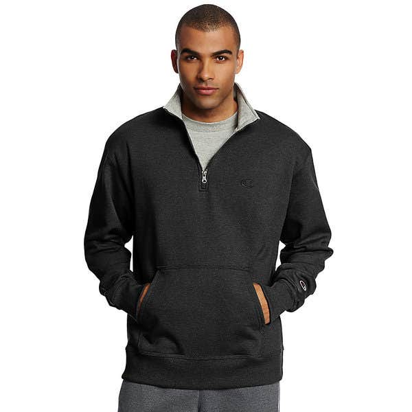 3b5aa3f70d04 Shop Champion Men's Powerblend Fleece 1/4 Zip Pullover - Free ...