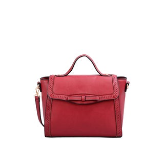 Mellow World Isadora Burgundy Faux-leather Satchel With Removable Shoulder Strap