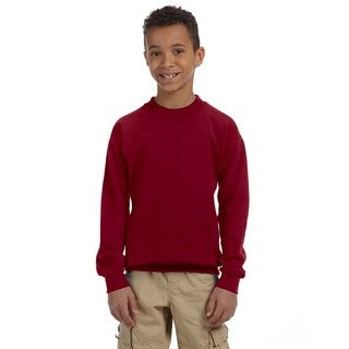 Heavy Blend Boy's Garnet Crewneck Sweatshirt