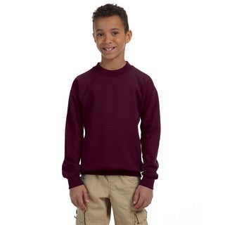 Gildan Boys' Maroon Cotton/Polyester Heavy Blend Crew Neck Sweatshirt