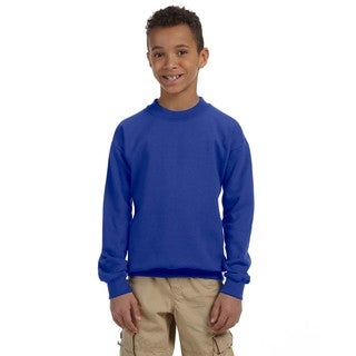 Gildan Boys' Royal Blue Cotton/Polyester Heavy Blend Crewneck Sweatshirt