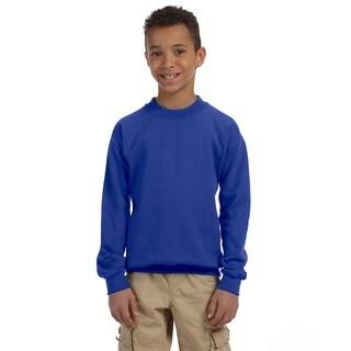 Gildan Boys' Royal Blue Cotton/Polyester Heavy Blend Crewneck Sweatshirt