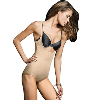Maidenform Women's Wear Your Own Bra Beige Cotton, Nylon, Spandex Torsette Body Briefer