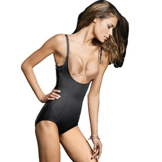 Maidenform Women's Wear Your Own Bra Black Cotton, Nylon, Spandex Torsette Body Briefer