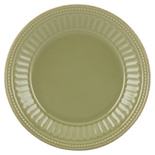 Lenox French Perle Groove Thyme Green Stoneware Dessert Plate