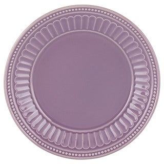 Lenox French Perle Groove Lavender Dessert Plate  sc 1 st  Overstock & Shop Lenox Violet French Perle 4-piece Dinnerware Set - Free ...