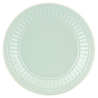 Lenox French Perle Groove Ice Blue Stoneware Dessert Plate