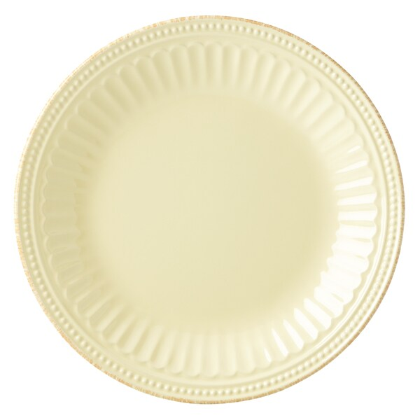 Lenox French Perle Groove Yellow Stoneware 8-inch Butter Plate