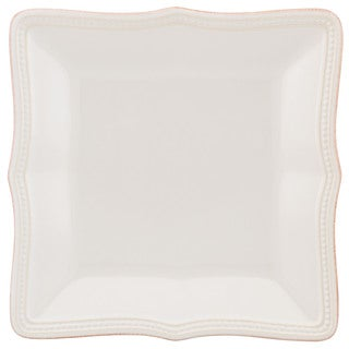 Lenox French Perle Bead White Stoneware Square Accent Plate