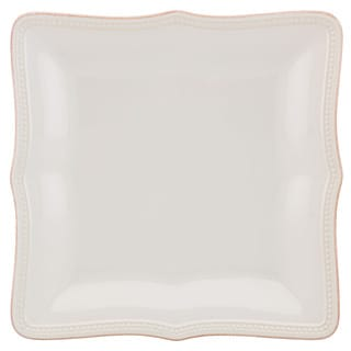 Lenox French Perle Bead White Square Dinner Plate
