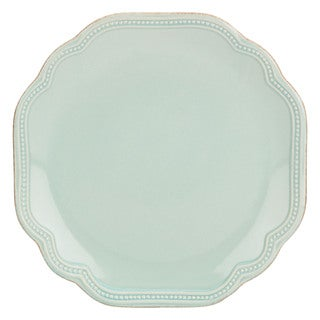 Lenox French Perle Bead Ice Blue Stoneware Accent Plate