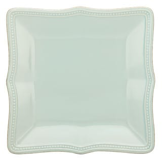 Lenox French Perle Blue Stoneware Square Accent Plate