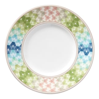 Lenox Entertain 365 Sculpture Green/Blue Porcelain Dessert Plates (Pack of 4)