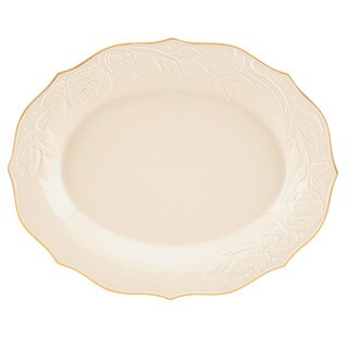 Lenox Ivory Porcelain Large Rose Platter