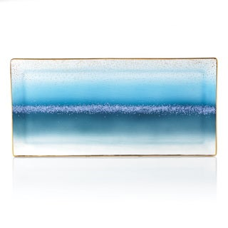 Lenox Seaview Ivory and Blue Porcelain Tray