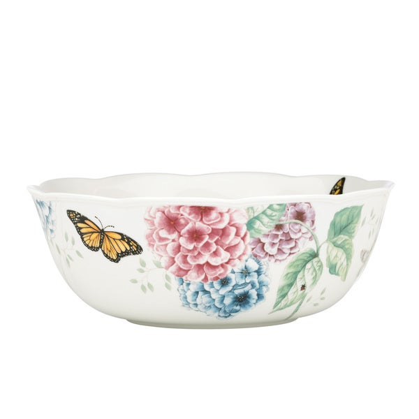 Shop Lenox Butterfly Meadow Hydrangea Serving Bowl Free