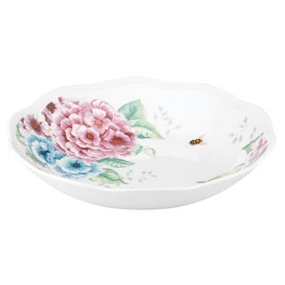 Lenox Butterfly Meadow Hydrangea White Porcelain Pasta Bowl