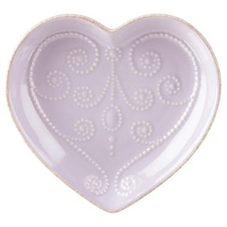 Lenox French Perle Lilac Everything Heart Dish