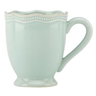 Lenox French Perle Bead Ice Blue Mug