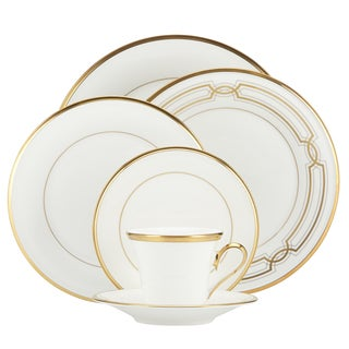 Lenox Eternal White 5-piece Place Setting  sc 1 st  Overstock & Shop Lenox Golden Waterfall 5 Piece Place Setting - Free Shipping ...