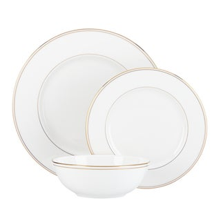 Lenox Federal Gold-banded China Boxed 3-piece Place Setting