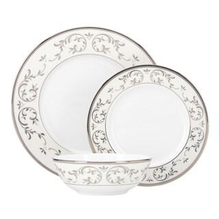 Lenox Opal Innocence Silver Platinum Porcelain 3-piece Place Setting