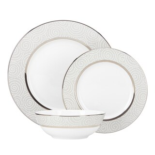 Lenox Pearl Beads Silver/White China 3-piece Place Setting