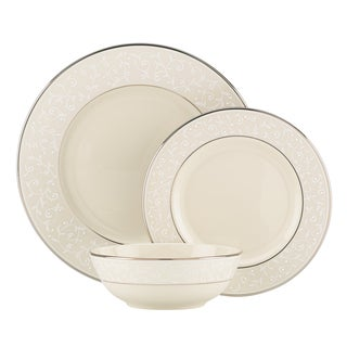 Lenox Pearl Innocence Silver/Off-white China 3-piece Place Setting