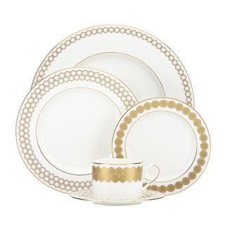 Lenox Prismatic Gold-banded White China 5-piece Place Setting