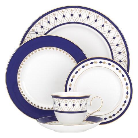 Lenox Royal Grandeur Blue, Gold, White China 5-piece Place Setting