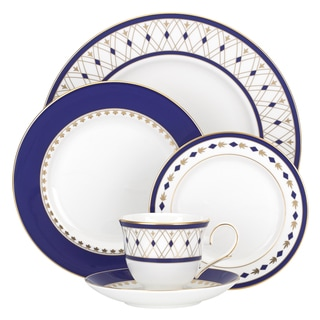 Lenox Royal Grandeur Blue, Gold, White China 5-piece Place Setting
