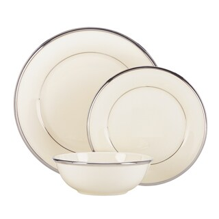 Lenox Solitaire Ivory and Silver China 3-piece Place Setting