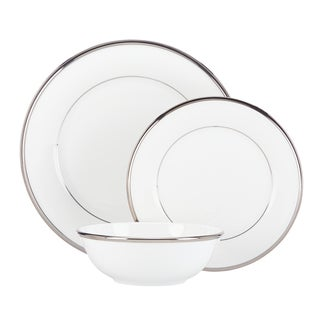 Lenox Solitaire White China 3-piece Place Setting