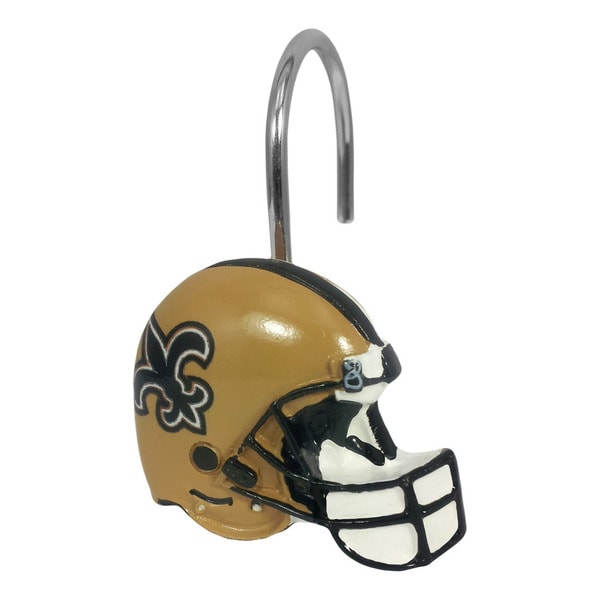 Northwest Company NFL 942 Saints Shower Curtain Rings (Pack of 12)