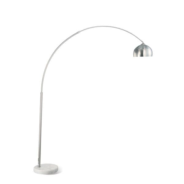 Coaster Chrome Metal and White Marble Arc Floor Lamp