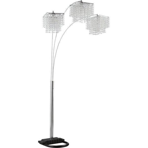 Coaster Company Traditional Chrome/Crystal Floor Lamp