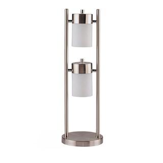 Coaster Company Silver Metal, Glass Swivel 2-light Table Lamp
