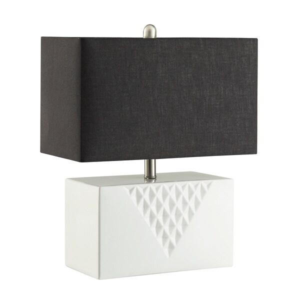 Coaster Company Silver, Black Metal, Fabri Rectangular Table Lamp
