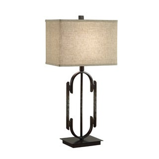 Coaster Company Bronze Table Lamp With Beige Fabric Shade